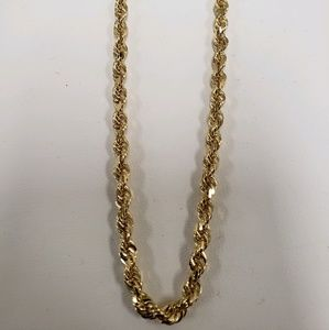 14k gold diamond cut rope chain! 20g/20in